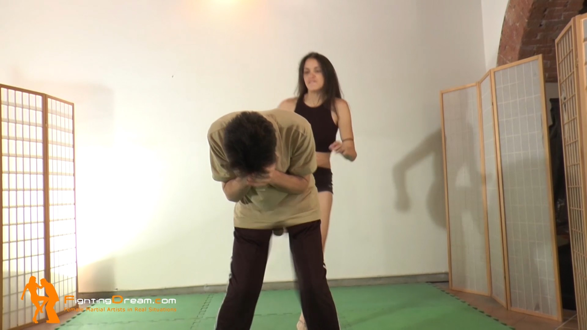 Ball busting self defense